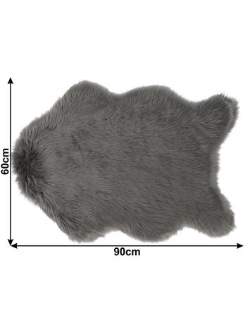 Blană artificială 60x90 cm, gri, EBONY TYP 5, 0000194133