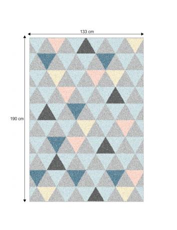 Covor 133x190 cm, multicolor, PETAL, 0000206725