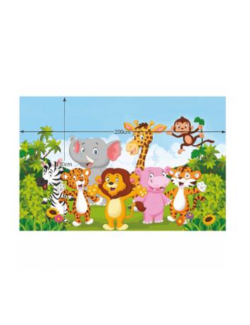Covor camera copiilor 130x200 cm, multicolor, XANDER, 0000203358