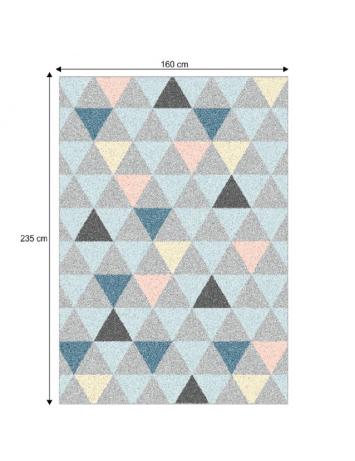 Covor 160x235 cm, multicolor, PETAL, 0000206724