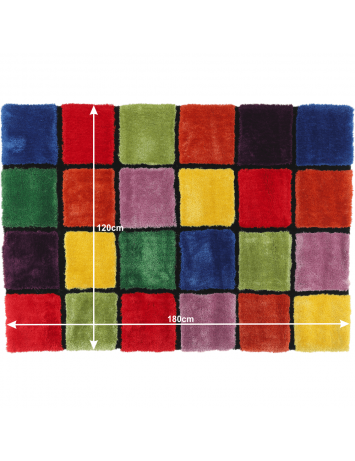Covor, roşu/verde/galben/violet, 120x180, LUDVIG TYP 4, 0000201411