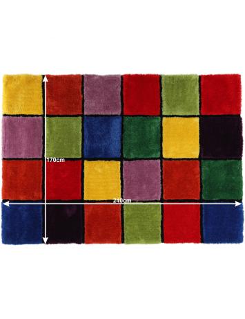Covor, roşu/verde/galben/violet, 170x240, LUDVIG TYP 4, 0000201407