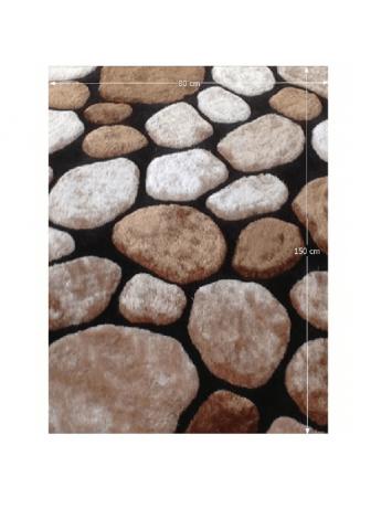 Covor 80x150 cm, maro/bej/negru, PEBBLE TYP 2, 0000201390