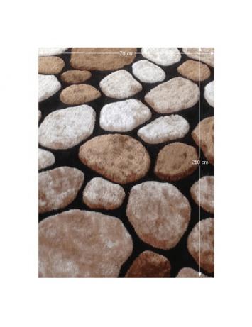 Covor 70x210 cm, maro/bej/negru, PEBBLE TYP 2, 0000201398