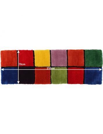 Covor, roşu/verde/galben/violet, 70x210, LUDVIG TYP 4, 0000201409