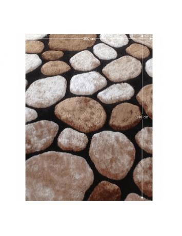 Covor 100x140 cm, maro/bej/negru, PEBBLE TYP 2, 0000201399