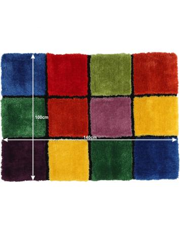 Covor, roşu/verde/galben/violet, 100x140, LUDVIG TYP 4, 0000201410