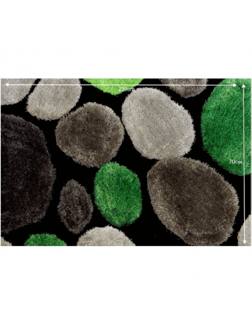 Covor 70x210 cm, verde/gri/negru, PEBBLE TYP 1, 0000201387