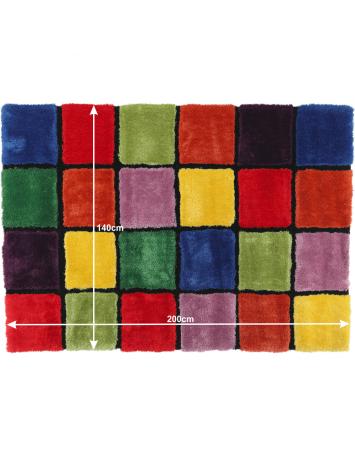 Covor, roşu/verde/galben/violet, 140x200, LUDVIG TYP 4, 0000201406