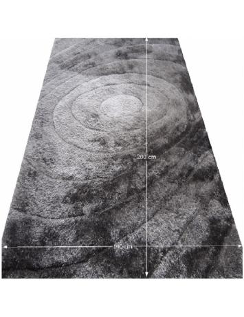 Covor 140x200 cm, gri, cu model, VANJA, 0000194119