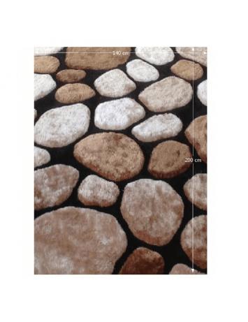 Covor 140x200 cm, maro/bej/negru, PEBBLE TYP 2, 0000201391