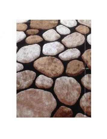 Covor 170x240 cm, maro/bej/negru, PEBBLE TYP 2, 0000201396