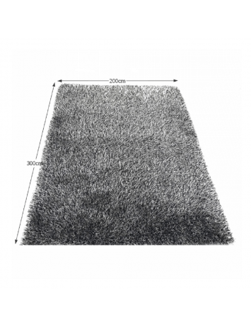 Covor 200x300 cm, crem/negru, VILAN, 0000194109