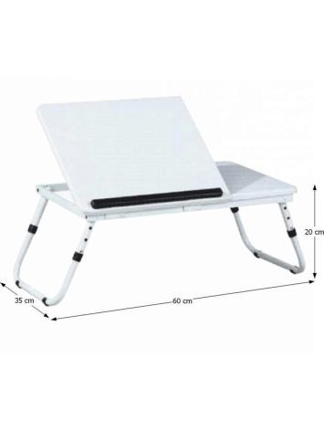 Măsuţa pentru notebook/suport pentru tablete, alb, EVALD, 0000072272