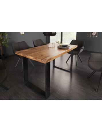 MASA DINING, IRON CRAFT II 140CM GRI, COD 40816, LEMN MASIV, ASPECT INDUSTRIAL