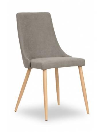 Scaun dining FIONA, gri/stejar, cu tapiterie din textil, stil Modern ATR