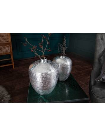SET 2 VASE DECORATIVE, ORIENTAL, COD 40102, METAL DE CULOARE ARGINTIE