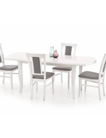 MASA EXTENSIBILA DINING 160/200CM FRYDERYK ALB DESIGN CLASIC HALMAR