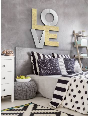 OGLINDA DECORATIVA LOVE 490633 DESIGN MODERN SCHULLER