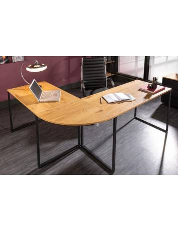 BIROU OFFICE, BIG DEAL 180CM, COD 40869, DIN METAL SI MDF, DESIGN INDUSTRIAL