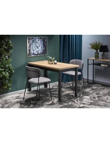 Masa dining COBALT stejar wotan/negru, stil Clasic, Halmar