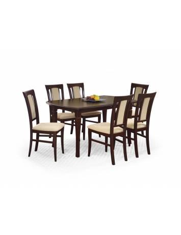 Masa dining FRYDERYK 160/240 cm, Nuc, stil Clasic, Halmar