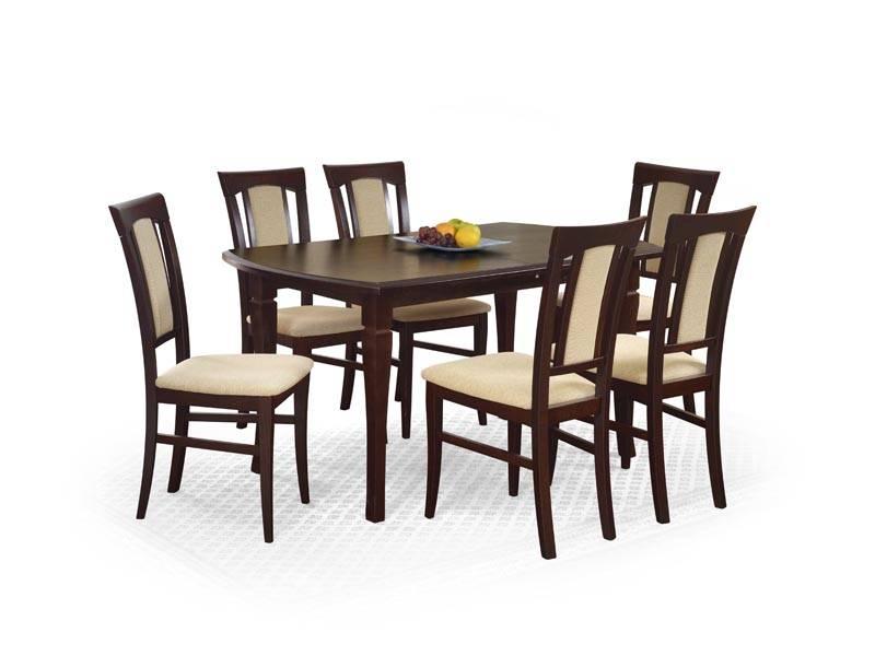 Masa dining FRYDERYK 160/240 cm, Nuc, stil Clasiv, Halmar