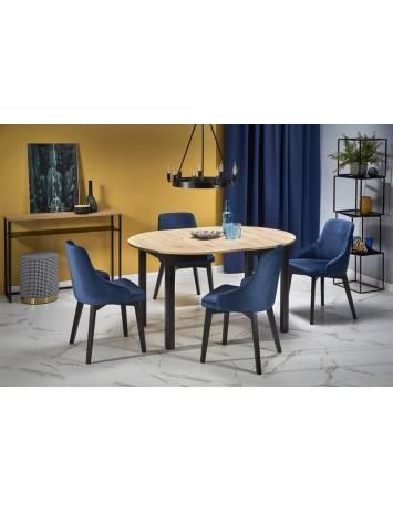 Masa dining extensibila RINGO, 102/142, STEJAR ARTISAN/NEGRU, stil Clasic, HALMAR
