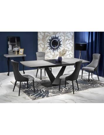 Masa dining extensibila VINSTON, gri/negru, 180/230, stil Modern, HALMAR