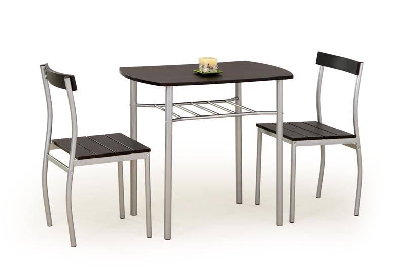 Set dining Masa cu 2 Scaune LANCE, wenge, stil Clasic, HALMAR