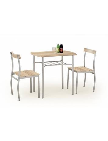 Set dining LANCE, Masa cu 2 Scaune, stejar sonoma, stil clasic, HALMAR