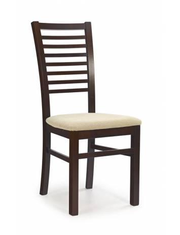 Scaun dining GERARD6, nuc/TORENT BEJ, din lemn masiv si textil, stil clasic, Halmar