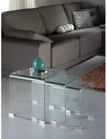 SET DE MASUTE GLASS, COD 552283, STIL MODERN SCHULLER