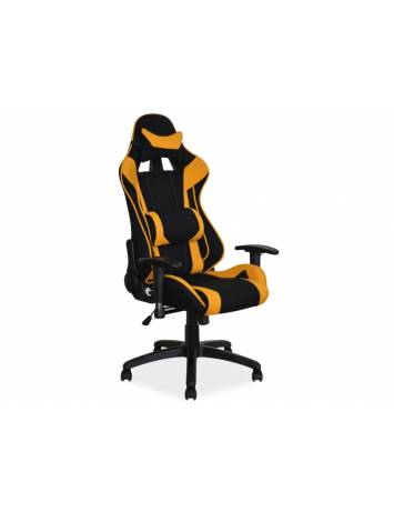 Scaun de birou/directorial, VIPER,negru/galben, cu tapiterie din textil, stil modern, SIGNAL