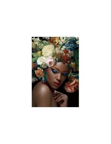 TABLOU DECORATIV FLOWER WOMAN I 80X120 DIN STICLA DESIGN EXCLUSIVIST, SIGNAL