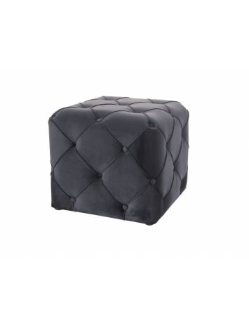 Taburet AVIVA K, BLUVEL 19, negru/wenge, stil modern, SIGNAL