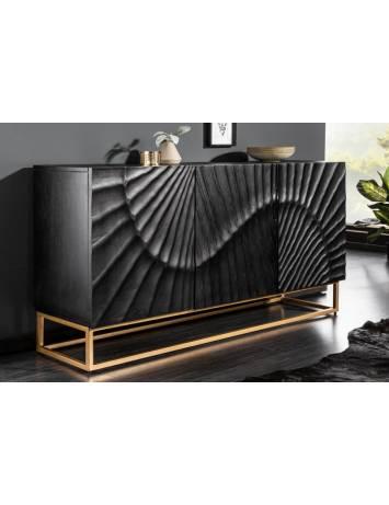 COMODA neagra - Scorpion din lemn masiv de Mango - 41399