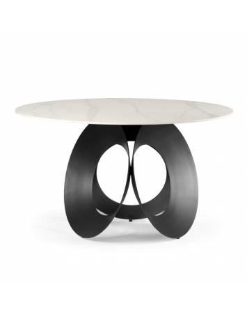 Masa living PARMA, negru/alb cu efect de marmura, stil modern ATR